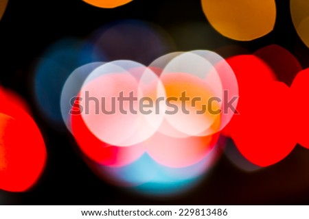 Photo of bokeh street trafic lights as background