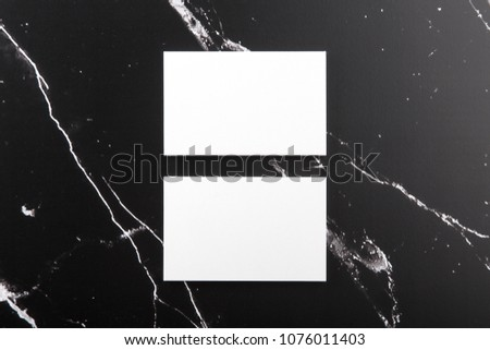 Photo of branding identity mock up on marble. Template isolated on marble background. For graphic designers presentations and portfolios marble premium luxury mock-up