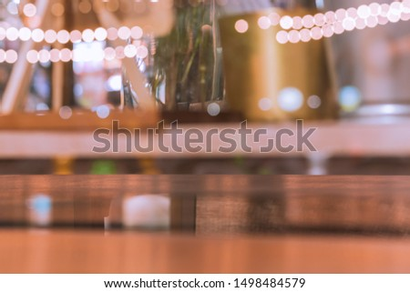 Photo of bright shiny beautiful blur bokeh of bistro like bubbles with copy space use as backdrop, background, wallpaper. Concept image for festive, christmas, party and celebration. Defocus picture. #1498484579
