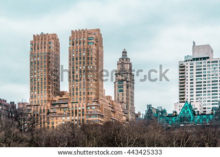 Photo of Buildings near Central Park in Manhattan, New York City #443425333