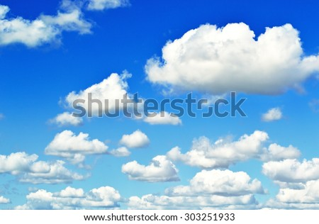 Photo of clouds on blue sky