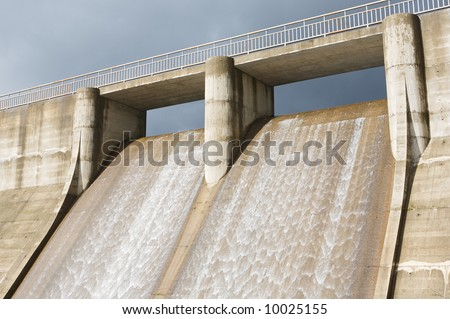 Photo of dam water to generate energy