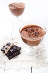 Photo of dark and delicate chocolate mousse