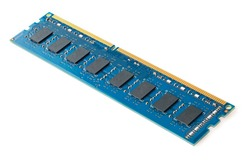 Photo of DDR RAM memory module isolated on white background