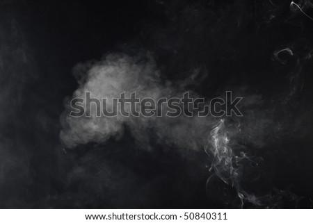 Photo of dense smoke cloud
