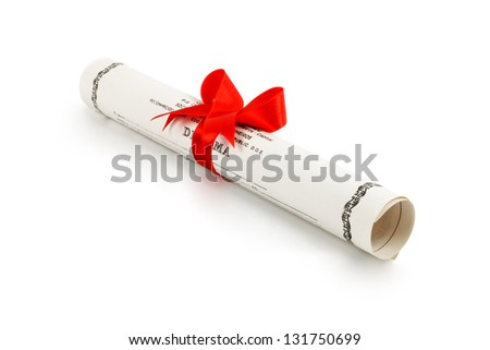 Photo of Diploma - stock photo