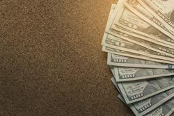 Photo of Dollar bills. Background of dollar bills.