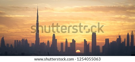 Photo of Dubai during sunset