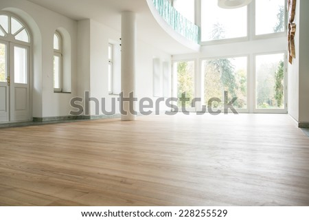 Photo of empty bright living room without furniture Сток-фото ©