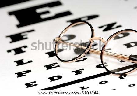 Photo of Eyeglasses on a Eye Chart - Optometry Concept