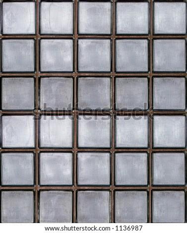 Photo of glass block wall