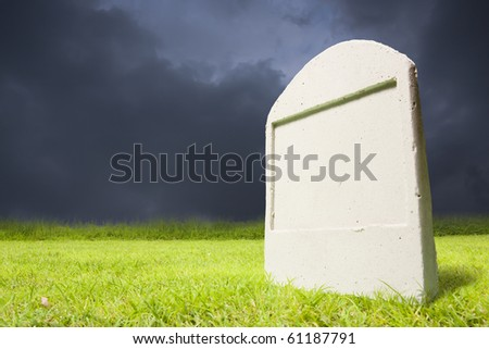 photo of graveyard at dark night