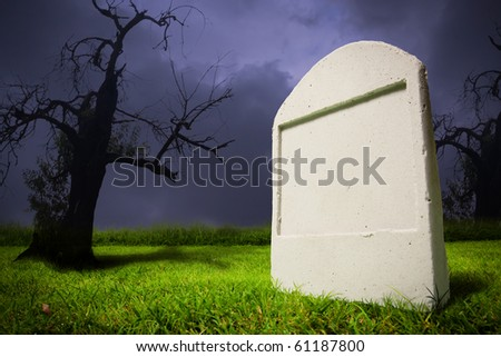 photo of graveyard at halloween