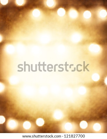 Photo of grunge brown festive background, abstract blur backdrop, Christmas golden frame, New Year greeting card, happy holidays, copy space, Merry Xmas, Christmastime celebration