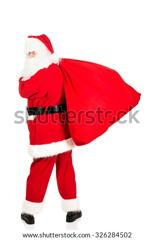 Photo of happy Santa Claus in eyeglasses. #326284502