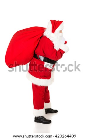 Photo of happy Santa Claus in eyeglasses  - Shutterstock ID 420264409