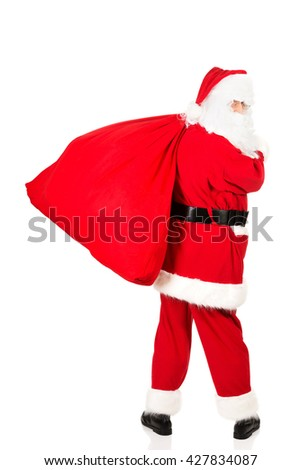 Photo of happy Santa Claus in eyeglasses  - Shutterstock ID 427834087