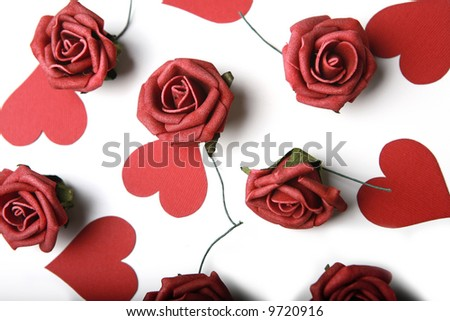clip art hearts and roses. Photo of hearts and roses.