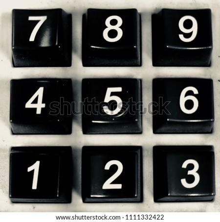 Photo of keypad from calculator #1111332422