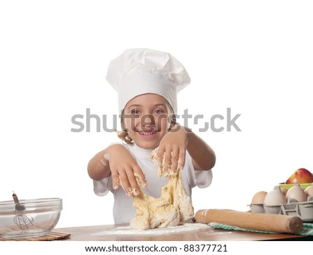 photo of little baker adorable.Cooking concept.