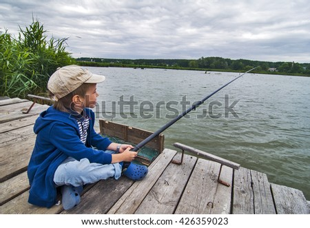 Boy fishing images for Little boy fishing