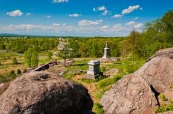 Photo of Little Round Top, Gettysburg National Military Park, Pennsylvania USA