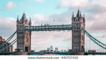 Photo of London Tower Bridge, sunny weather, England