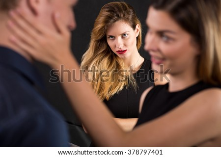 Photo of man cheating on jealous wife