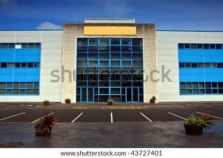 photo of modern office block units for rent,copy space