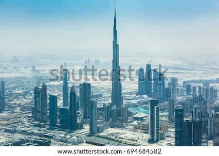 Photo Of Modern Skyscrapers In Dubai City, UAE