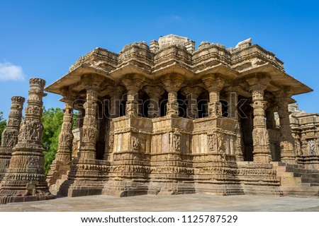 Photo of Modhera Sun Temple, captured at Gujarat State of India which is a popular tourist destination.