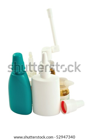 Photo of nasal spray isolated on white background