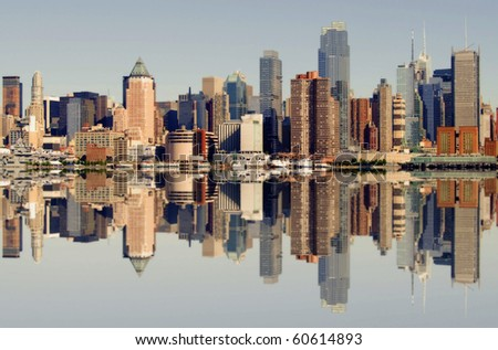 photo of new york city skyline over the hudson river