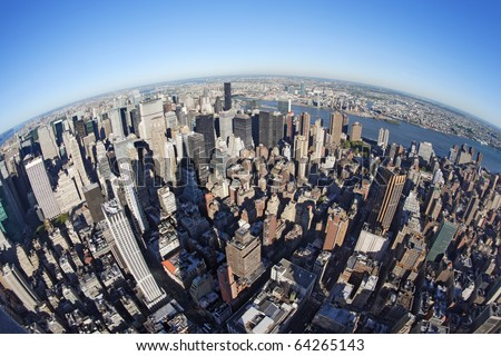 Photo of new york city taken from the empire state for New york out of state fishing license