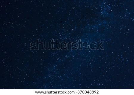 Photo of night sky, captured on long exposure