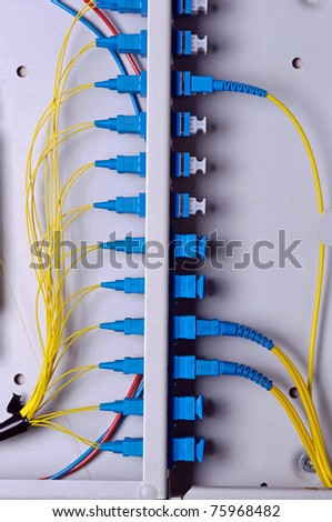 Photo of optic cable connection