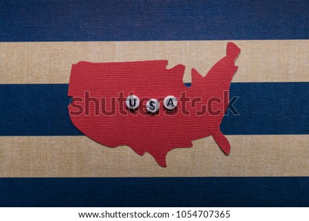 Photo of original paper cutout art USA Fourth of July 4th independence day americana merica