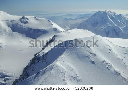Photo of peaks near Denali in Denali National Park, Alaska