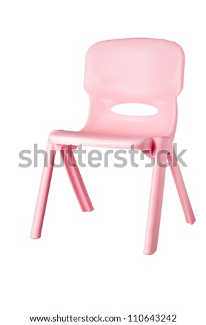 Photo of pink plastic garden chair