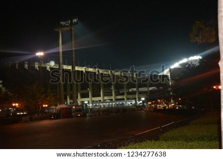 Photo of Rajamangala stadium in Bangkok, Thailand.