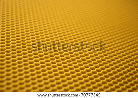 Photo of real beeswax honeycomb