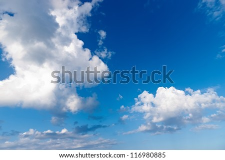 Photo of real clouds - stock photo