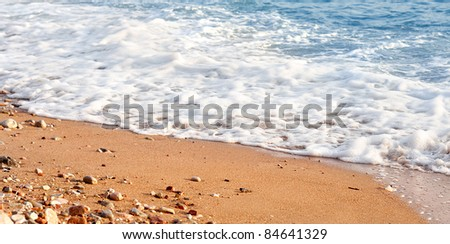 Photo of sand and wave