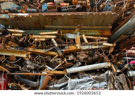 Photo of Scrap Metal Waste with rust. Photo stock ©