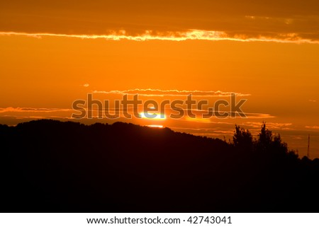 Photo of sky with beautiful sunset