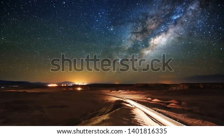 Photo of starry sky and desert #1401816335