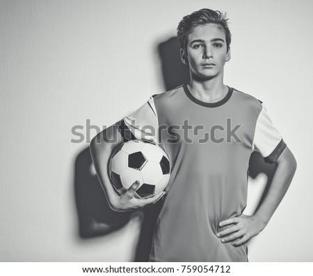 photo of teen boy in sportswear ...