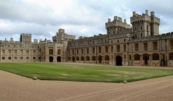 Photo of the courtyard of world's largest castle. It is in United Kingdom.