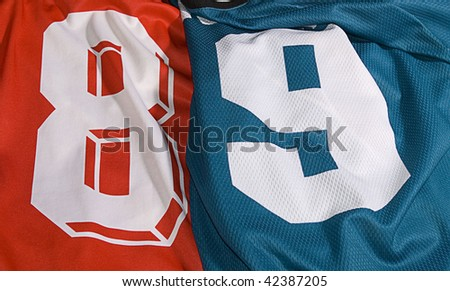 photo of the different team uniforms eight and nine