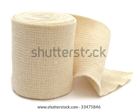 photo of the elastic bandage against the white background